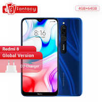 En Stock Version mondiale Xiaomi Redmi 8 4GB 64GB Snapdragon 439 Octa Core 12MP double caméra téléphone portable 5000mAh grande batterie OTA
