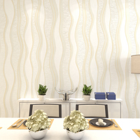 Papers Wall Modern Home Decor Non Woven Striped Wallpaper Roll Wave Stripe For Living Room Walls Papel De Parede Listrado