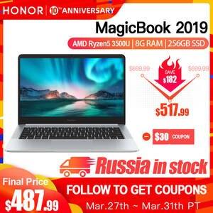 HONOR Laptop Notebook Computer SSD HUAWEI 14inch IPS Amd Ryzen 5-3500u 8G PCIE FHD 256/512GB