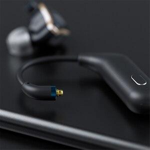 Image 5 - Para fiio utws1 mmcx adaptador de fone ouvido bluetooth conversor porto verdadeiro sem fio fones ouvido gancho dinâmico & armadura