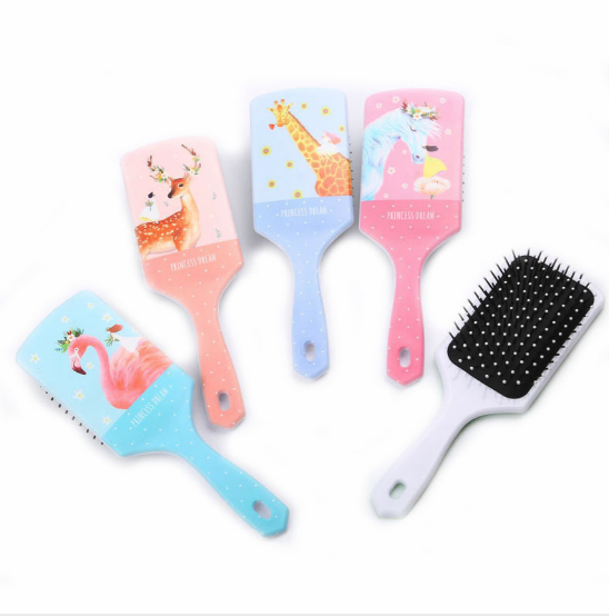 1Pcs New Cute Unicorn Animal Anti-static Hair Brush Massage Comb Shower Wet Detangle Hair Brush Salon Hair Styling Tools