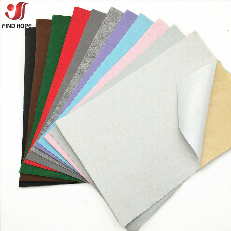 Self Adhesive Felt Fabric Sticky Non-Woven Craft Patchwork Sheet Roll Multicolor