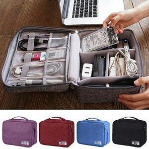 USB Cable Storage Bag Travel D