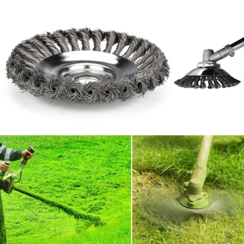6inch Steel Wire Grass Trimmer Head Lawn Mower Grass Eater Wheel Weeding Trimmer Brush Cutter Tools Part Garden Lawn Supplies