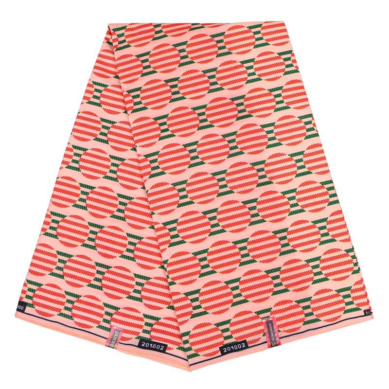 2019 Latest Arrivals New Fashion African Pagnes Veritable Ankara Real Dutch Wax Guaranteed Printed Pink Fabric