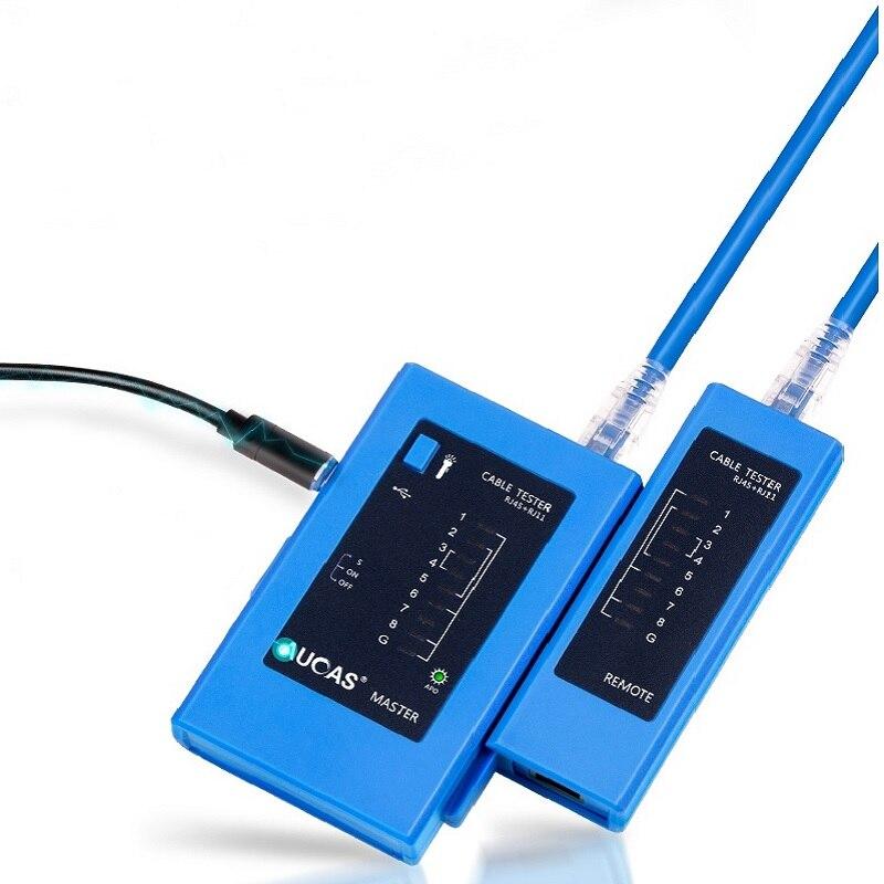 AUCAS Professional Network Cable Tester Rj45 RJ11 Network LAN Ethernet RJ45 Cable Tester Tool LAN Networking Tool Network Repair