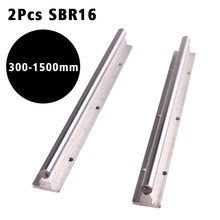 2pcs Bearing Linear Supported Rail SBR16mm - 300 400 500 600 1000 1200 1500 Mm Linear Guide Rail Shaft Rod CNC Rounter(China)