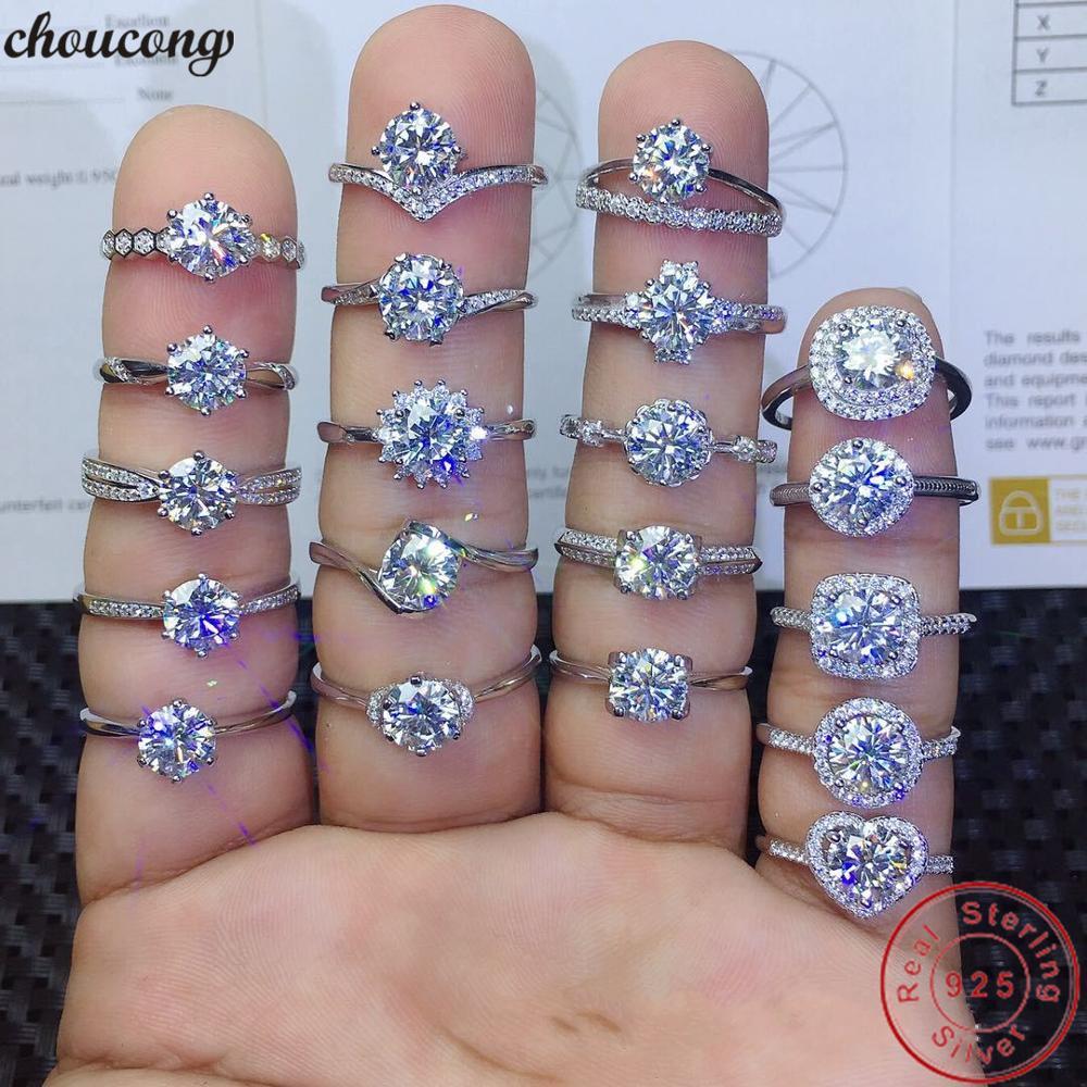 90% de réduction amoureux Lab diamant promesse bague 925 en argent Sterling fiançailles bague de mariage anneaux pour femmes hommes Fine fête bijoux cadeau