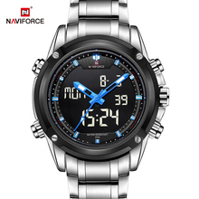 Top luksusowa marka NAVIFORCE mężczyźni wojskowy wodoodporny LED zegarki sportowe męski zegar męski zegarek na rękę relogio masculino 2017