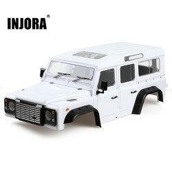 INJORA Hard Plastic 313mm 12.3in Wheelbase D110 Defender Body Shell for 1/10 RC Crawler Car Traxxas TRX4 Axial SCX10 90046
