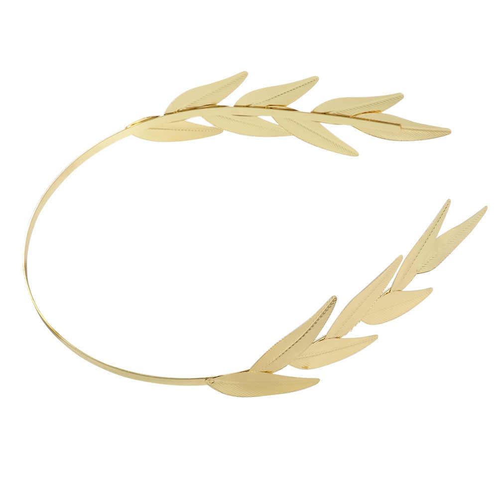 Vintage Unique feuille d'or bandeau mariage cheveux accessoires bandeaux tiare couronne bijoux de mariée pour femmes indien casque