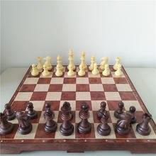 Складной деревянный набор магнитных шахматных фигур из ДПК коллекционная