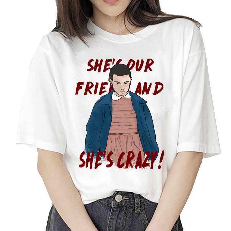 Étranger choses 3 t shirt onze 2019 femmes nouveau t-shirt hip hop 90s gothique femme vêtements femme streetwear kawaii à l'envers