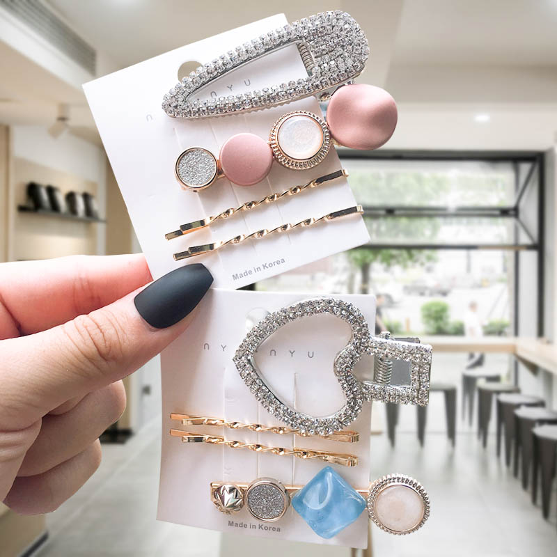 2019 New Fashion Flash Luxury Hairpin  For Women Hair Clip Hairpin Hair Accessories Set  Barrette Girl Accessories