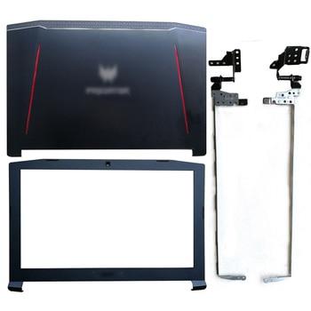 Cubierta trasera LCD/bisel frontal/bisagras para Acer Nitro 5 AN515-41-42-51-53 Predator Helios 300...
