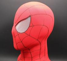 High Quality Avengers 3 Infinity War Spiderman Mask Cosplay Iron Latex Red Full Head Masks Halloween Costume Prop