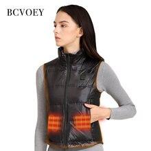 Bcvoey женский зимний пуховой жилет куртка с подогревом пальто