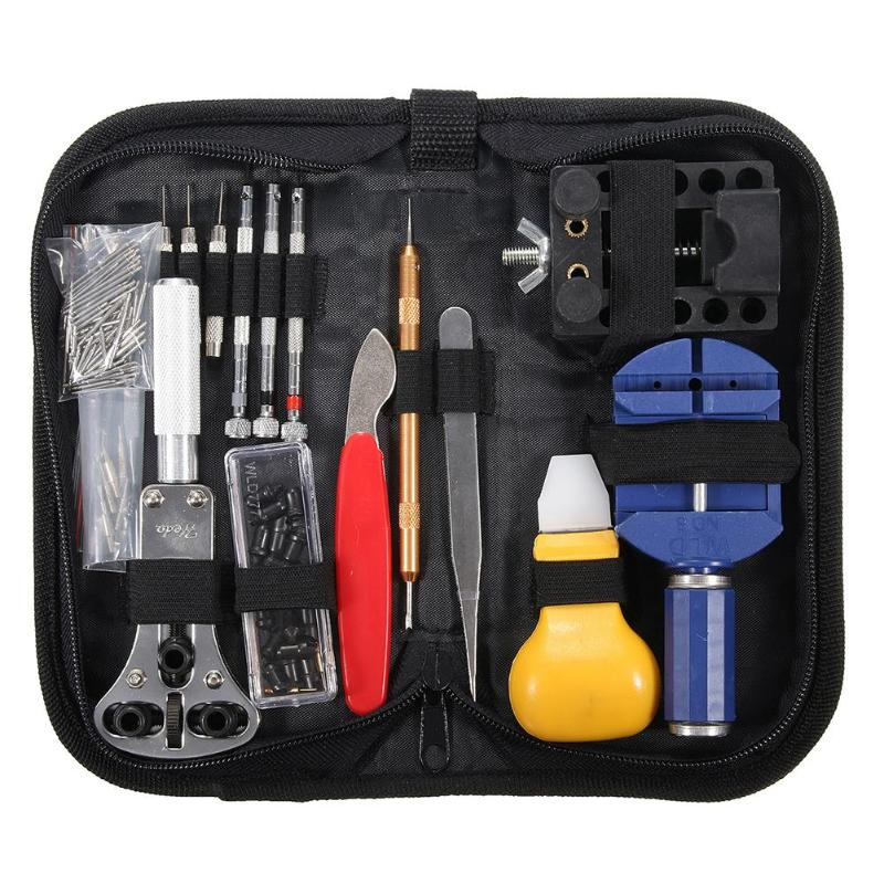 14/19/144/146 pcs/set Watch Repair Tool Kit Watch Opener Remover Tweezers Screwdrivers Adjuster Watchmaker Repair Tools Set