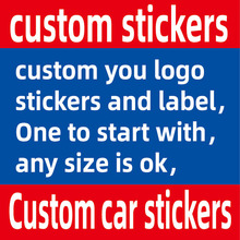 Custom Car Stickers Name Logo Text Car Sticker JAYJOE Custom Decals For Cars Auto Motorcycle Bumper Window Door Body