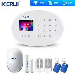 KERUI W20 Wifi Gsm APP Rfid Control Touch Screen Alarm Wireless GSM SMS Intruder Security Alarm System PIR Motion