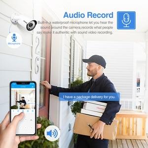 Image 4 - Techege H.265 8CH Poe Systeem 2.0MP Audio Ip Camera Metalen Outdoor Waterdichte Netwerk Camera Cctv Security System Surveillance Kit