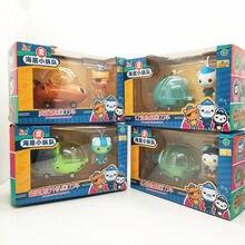 Octonauts figura brinquedos liga metal dedo imprensa pullback veículos navio barco capitão cracas kwazii figuras brinquedos das crianças presente