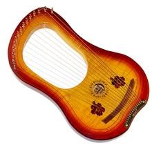 Gecko 15 cordas de madeira lira harpa metal cordas canadá maple string instrumento com saco de transporte
