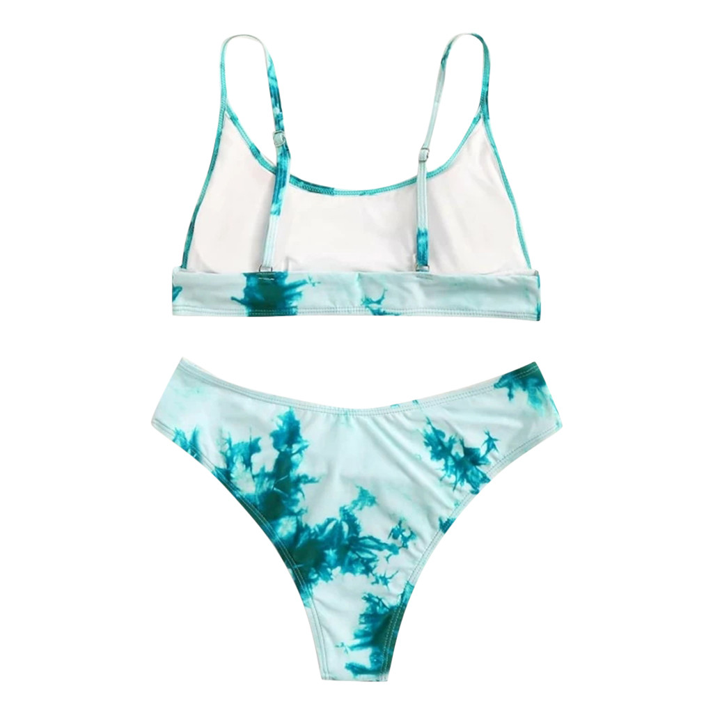 Women Sexy Tie-dye Printing Swimwear Bikini Push Up Swimsuit Brazilian Bikini Set Bathing Suit Summer Beach Wear купальник #T1G 2