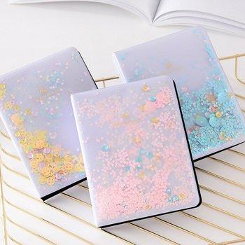 Quicksand Sequin Series 3 Inch 5 Inch Photo Album 3 Colors Photo Album Storage Notes Mini Album for Instax Mini Film