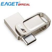 Eaget CU31 Otg USB3.1 Flash Drive Mini Flash Disk Type-C Hoge Snelheid Pendrive 16G 32G 64G 128G Type-C Interface Usb Flash Drives
