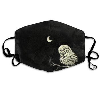 Mouth Mask Owl in The Night Print Masks - Breathable Adjustable Windproof Mouth-Muffle, Camping Running for Women and Men jaap stijl the lie in the mouth