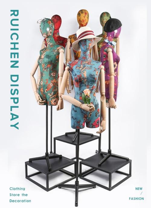 Female Adjustable Sewing Dress Form Fashion Dressmaker Mannequin Plastic Durable