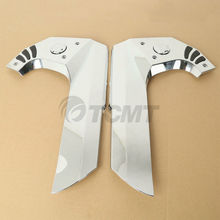 Motorcycle A Pair Chrome Fairing Frame Covers For Honda Goldwing GL1800 GL 1800 2001-2017 drag specialities 2001 0278 chrome fat spotlights pair