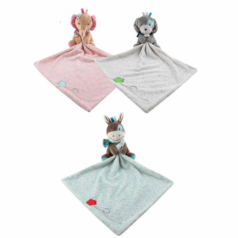 Brand New Baby Nursery Peuter Security Cartoon Zachte Glad Bad Dier Speelgoed Deken Cartoon Slabbetjes Baby Baby Handdoek