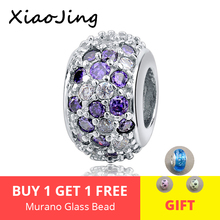 New Arrival 925 silver charms beads with colorful CZ stone fit authentic pandora bracelet diy fashion jewelry making women gift цена