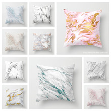 YVEVON Marble Cushion Covers Geometric Printed Pillowcases Polyester Stone Pattern Pillow Bags sofa home textile 45cm 18inch