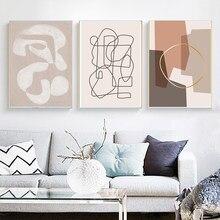 Linha abstrata moderna impressão da arte pintura em tela parede imagem cartaz impressão sala de estar decoração casa pintura