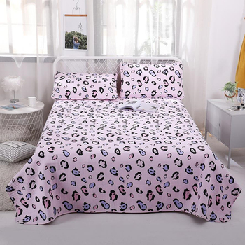 Bed cover+Pillowcases Leopard Print Bedding set Single/double bed Bedspread Single / multiple Quilt cotton Blanket Bed cover