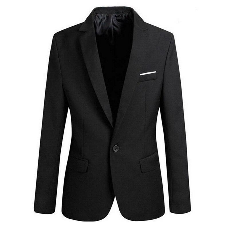 A 2020 Men Slim Fit Social Blazer Spring Autumn Fashion Solid Mens Wedding Dress Coats Casual Size Business Male Suit Jackets