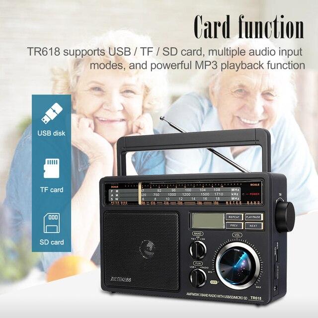 Радиоприемник RETEKESS TR618 AM/FM/SW MP3 TF/SD-Card