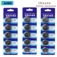 Supplier Wholesale 100PCS Cheap CR2450 Button Battery KCR2450 5029LC LM2450 Cell Phone Coin Lithium Battery 3V CR 2450