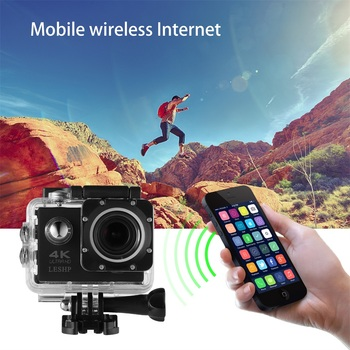 LESHP Ultra HD 4K Sport Action Camera WIFI 1080P 16MP+ 170 Degree Angle Waterproof DV Camcorder FOR Outdoor Sports
