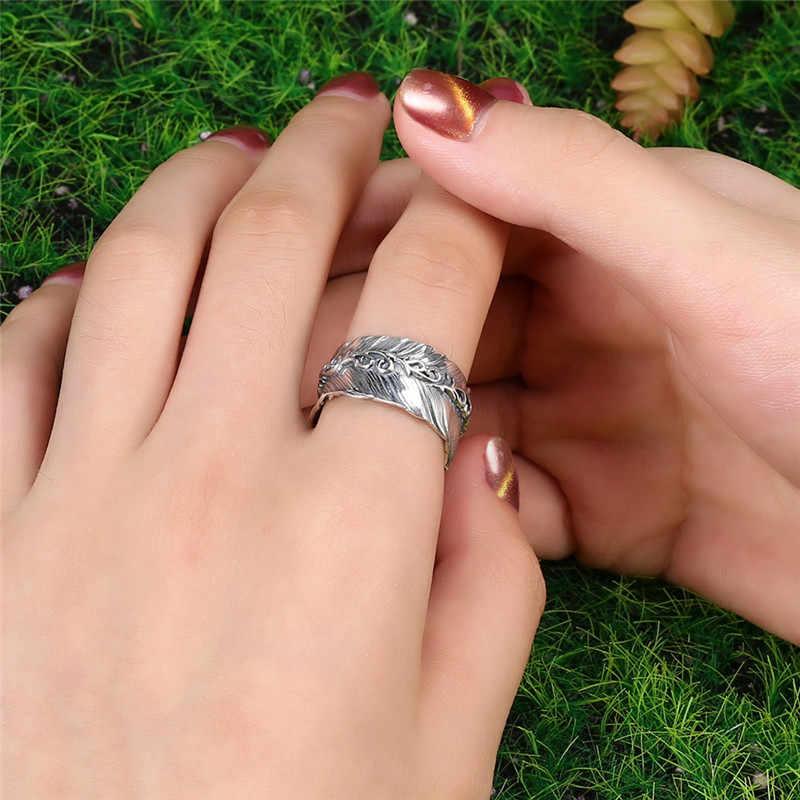 V. YA 100% แท้ 925 เงินคู่แหวน Retro ผู้หญิงแหวนเปิดประเทศไทยเงินแหวนผู้ชาย 2019 เครื่องประดับ