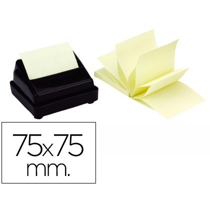 NOTEPAD STICKY NOTES REMOVABLE Q-CONNECT 75X75 MM ZIG-ZAG 12 Units