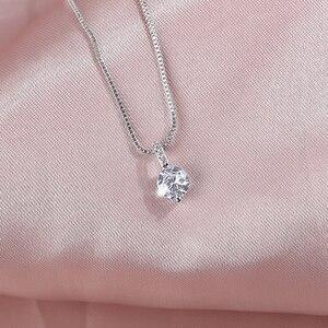 Женское колье из серебра 925 пробы, с подвеской в виде капли воды Ожерелья      АлиЭкспресс
