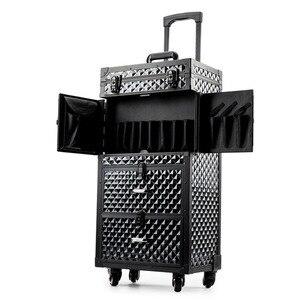 Image 2 - Coiffure professionnelle bagage roulant boite a outils Salon de coiffure chariot valise Salon de beauté grand tiroir boite a outils