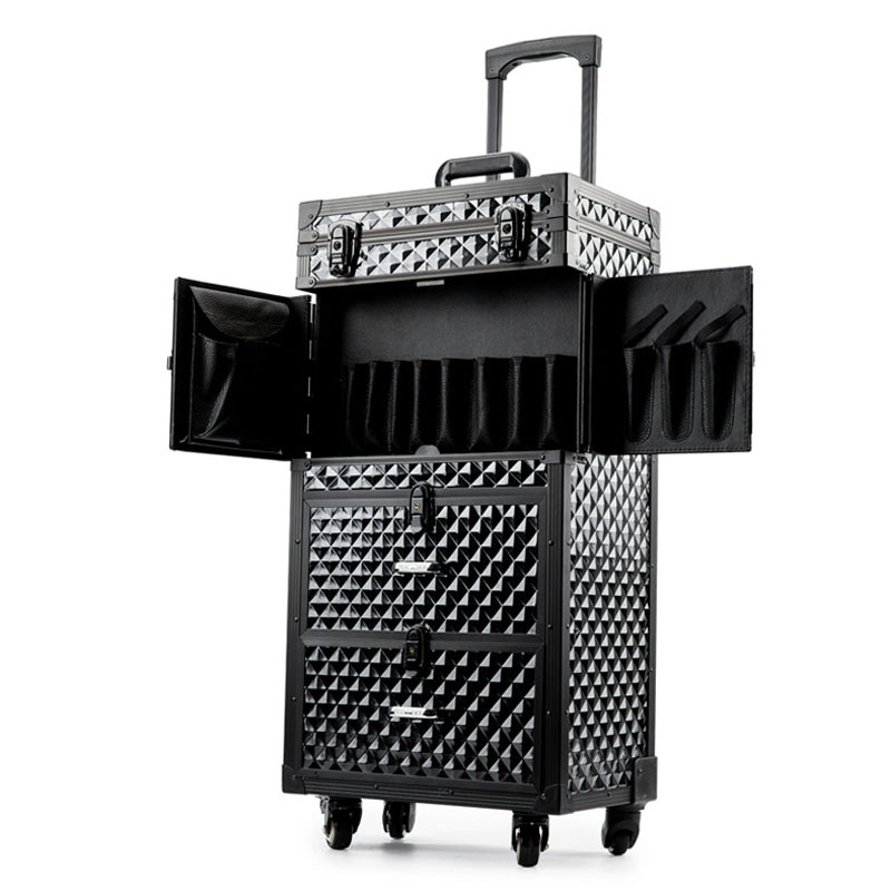 Image 2 - Professional Hairdressing rolling luggage Toolbox Salon Hairdresser trolley suitcase Beauty Salon Large Drawer ToolboxRolling Luggage   -
