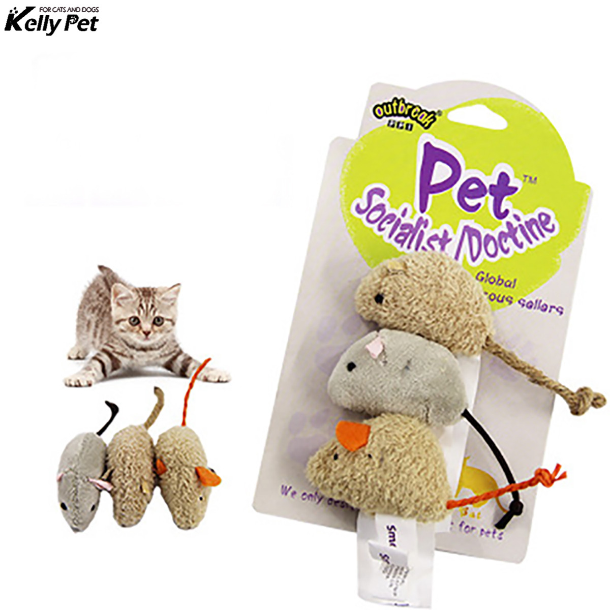 3pcs New plush simulation mouse cat toy plush mouse Cat scratch bite resistance interactive mouse toy palying toy for cat kitten in Dog Toys from Home Garden