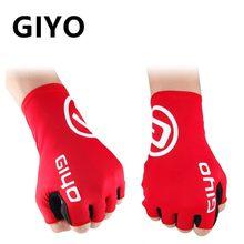 Giyo luvas sem dedos para ciclismo, luva de gel longa para esportes, bicicleta mtb, ciclismo de estrada, equitação, corridas luvas, luvas