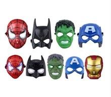 3pcs/lot Halloween Star Wars Darth Vader Mask Super Hero Hulk/American Captain/Iron Man/Spiderman/Batman Crazy Party Masks
